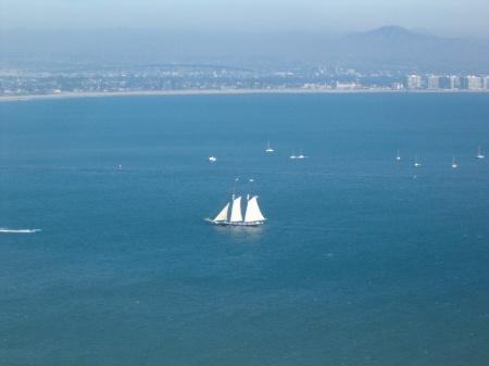Schooner Entering San Diego Bay